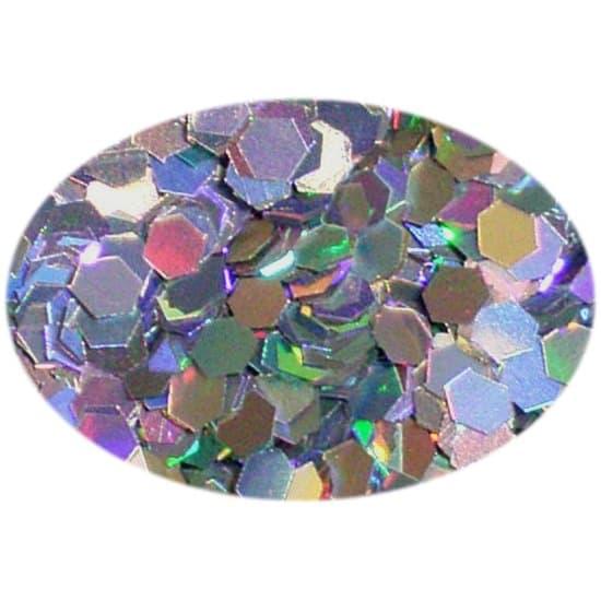 Glitter Holo Silver 0625Hex