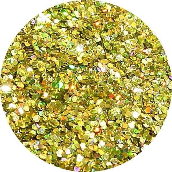 JOSS Holo Lemon Solvent Stable Glitter 0.015Hex