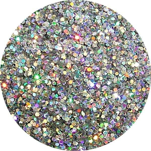JOSS Holo Silver Solvent Stable Glitter 0.015Hex