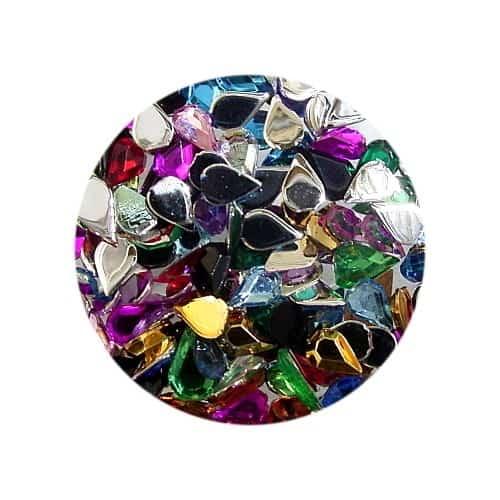 Asian Rhinestones Teardrop Assorted Colours