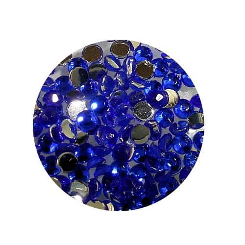Asian Rhinestones Round Blue