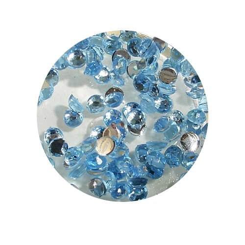 Asian Rhinestones Round Light Blue