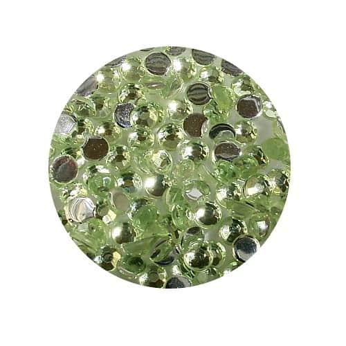 Asian Rhinestones Round Light Green