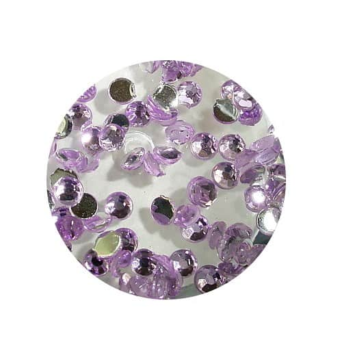 Asian Rhinestones Round Lilac