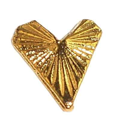 Gold Heart Nail Charms