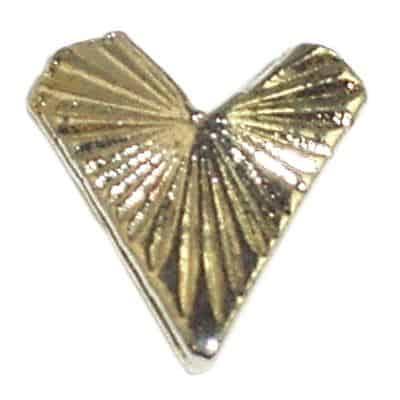 Silver Heart Nail Charms
