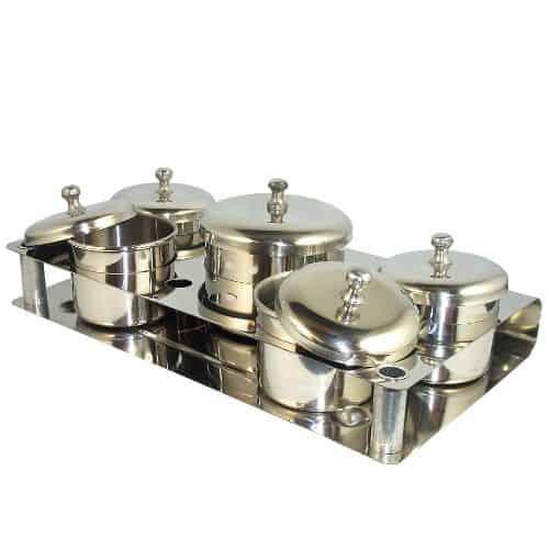 Metal Dappen Dish Set