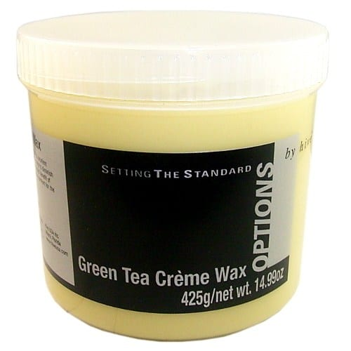 Hive Options Green Tea Creme Wax 425g
