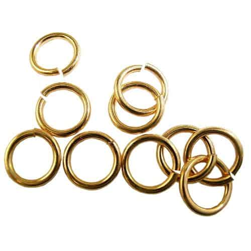 Gold Large Nail Dangle Rings Pkt 10