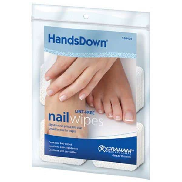 HandsDown Lint Free Nail Wipes
