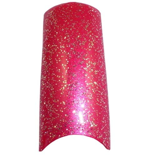 Hot Pink Glitter French Tips Tray 100