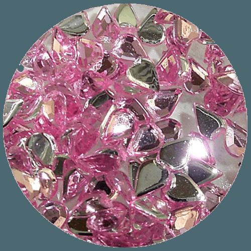 Asian Rhinestones Teardrop Pale Pink