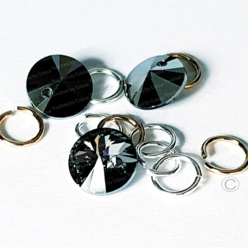 Swarovski Silver Night Tiny Treasures Nail Piercing