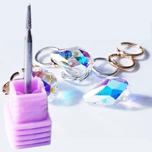 Swarovski Crystal AB Tiny Treasures Nail Piercing – Chatons