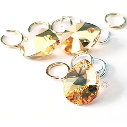 Swarovski Metallic Sunshine – Tiny Treasures Nail Piercing – Chaton