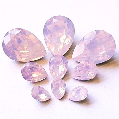 Swarovski Pear – Rose Water Opal – Chaton