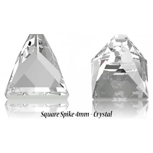 Square Spike 4mm – Crystal – Specialty