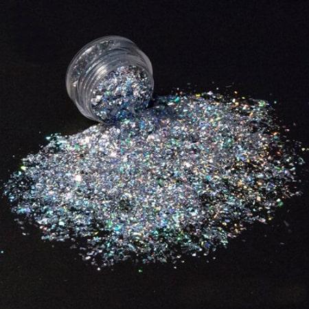 Chameleon Silver Glitter Shard