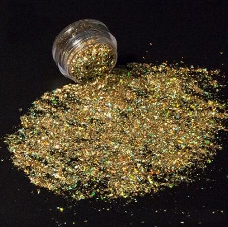 Gold Glitter Shard