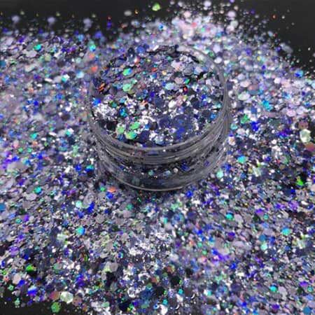 Blue Ice Glitter Medium