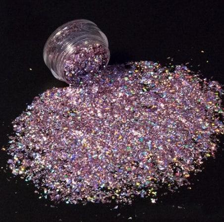 Mauve Glitter Shard
