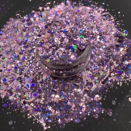 Purple Glitter Medium