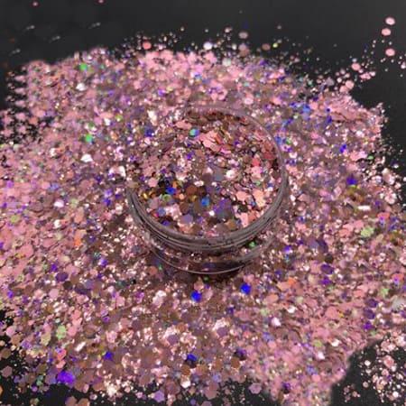 Mauve Glitter Medium