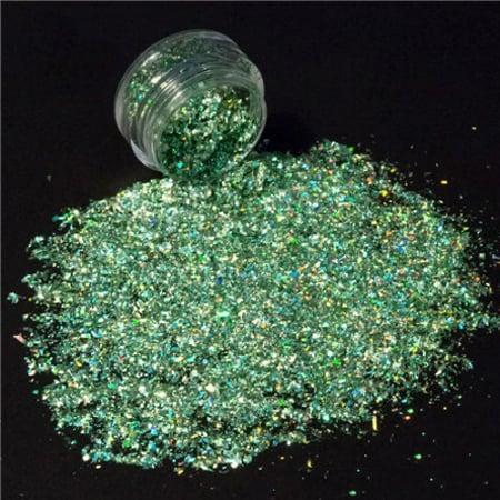 Green Glitter Shard