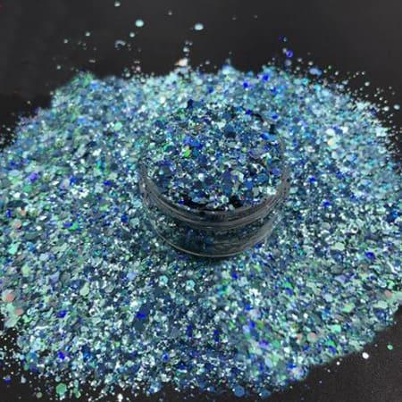Turquoise Glitter Medium