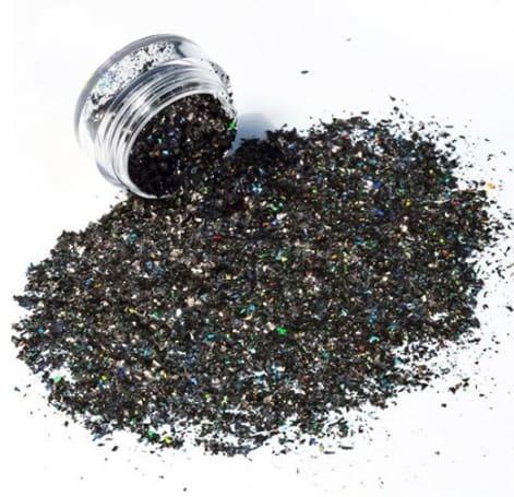 Black Glitter Shard