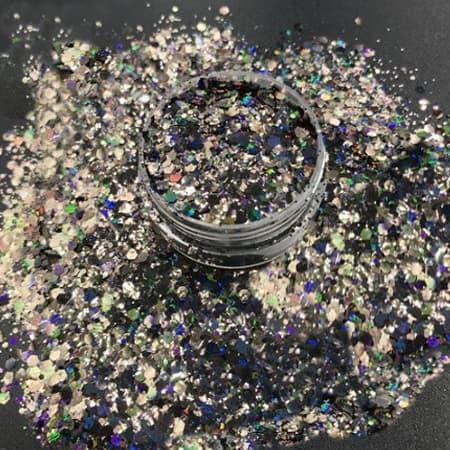 Black Glitter Medium
