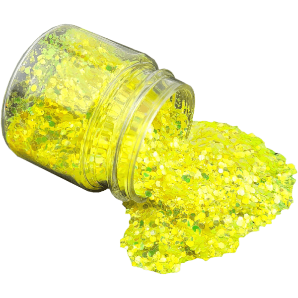 Electric Yellow Glitter Large