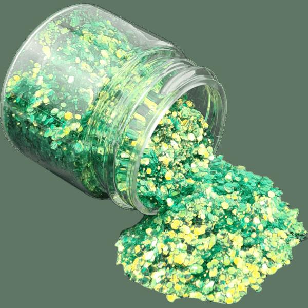 Chameleon Green Glitter Large