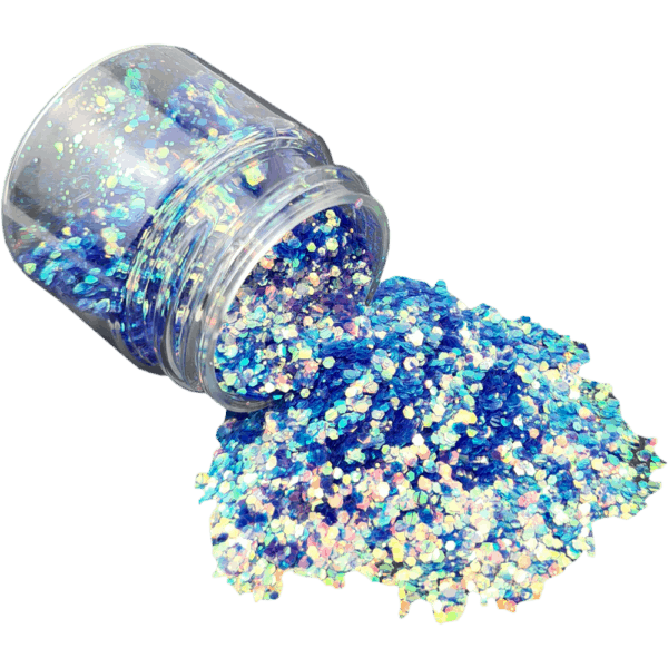 Seaside Blue Glitter Large