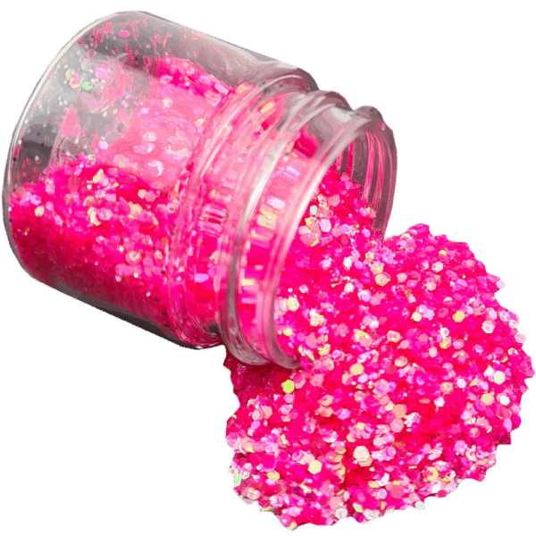 Electric Pink Glitter Large