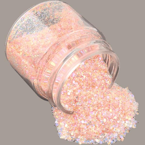 Light Peach Glitter Medium